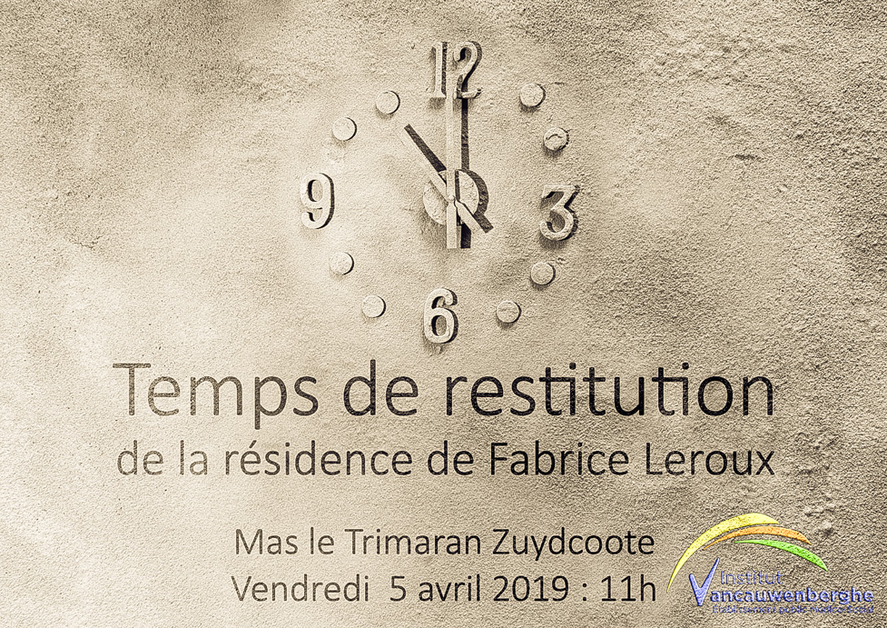 affiche-résidence Zuydcoote Fabrice Leroux