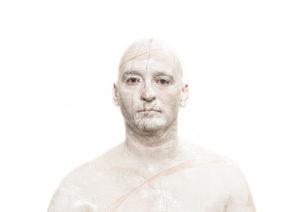 Je suis un support blanc rayé Fabrice Leroux